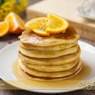 Pancakes all'arancia e miele