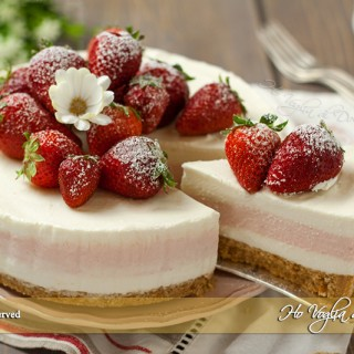 Cheesecake fragole e limone