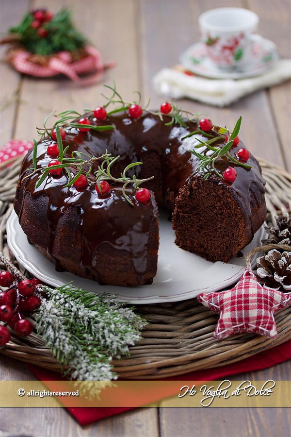 Ciambella al cioccolato natalizia ricetta | Ho Voglia di Dolce