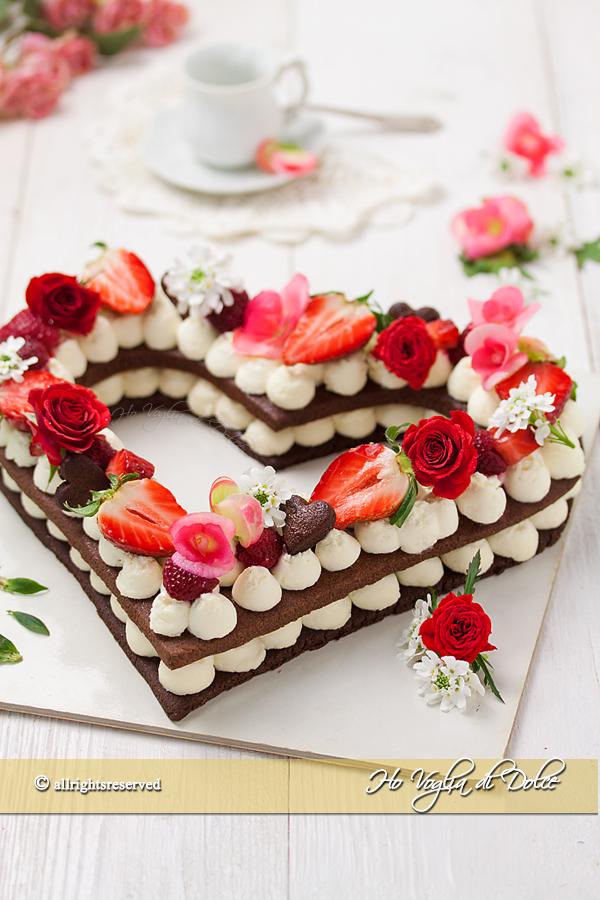 Cream tart a cuore ricetta | Ho Voglia di Dolce