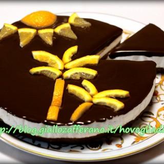 la mia Cheesecake Arancia e Cioccolato fondente, finalista al concorso Cheesecake Mania di Philadelphia