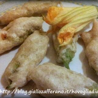 Fiori di zucca ripieni con ricotta e speck, ricetta napoletana