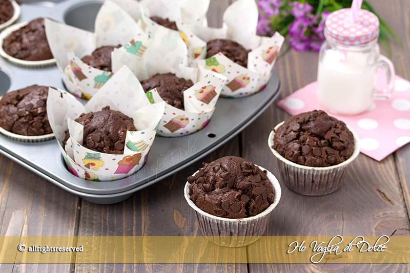 Muffin Al Doppio Cioccolato Ricetta Golosa Ho Voglia Di Dolce