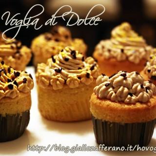 Cupcakes alla vaniglia ripieni di nutella