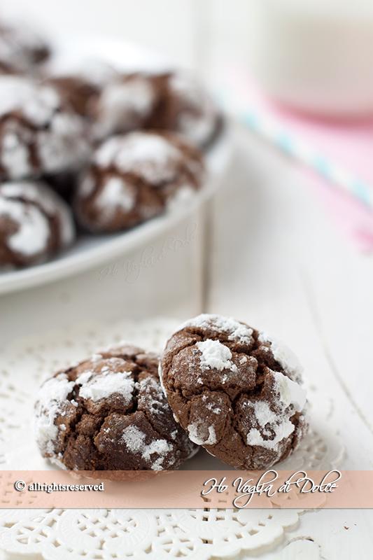Biscotti al cioccolato fondente extra morbidi