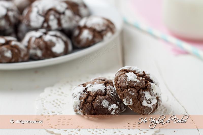 Biscotti al cioccolato fondente morbidi