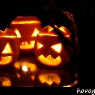 Candele di arance stregate per halloween