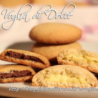 Biscotti tipo grisbì ripieni di crema o cioccolata