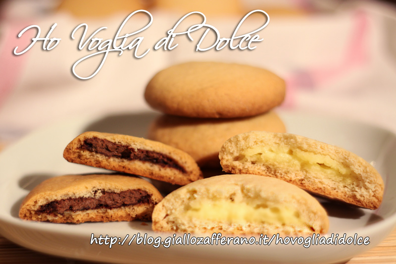 Biscotti tipo grisbì ripieni di crema o cioccolata, ricetta dolce