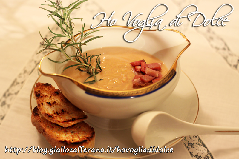 Crema di ceci e patate con pancetta affumicata, ricetta invernale