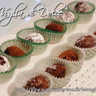 Tartufi al cioccolato con varie coperture, ricetta golosa