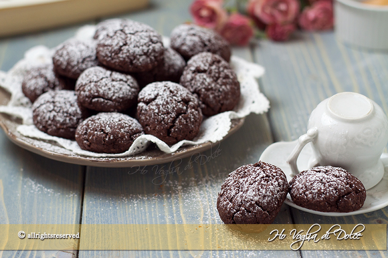 Dolci ricette biscotti al cioccolato morbidi