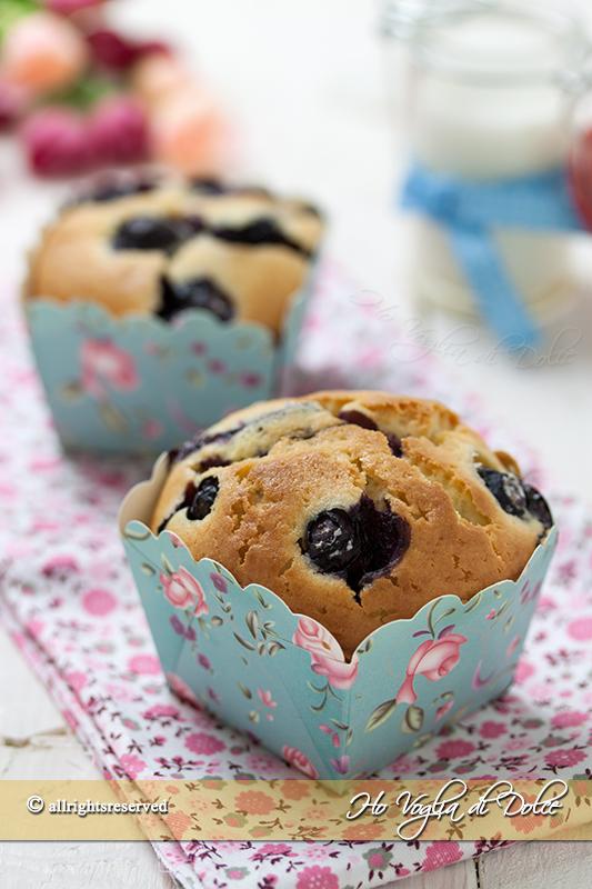 Muffin ai mirtilli ricetta velocissima
