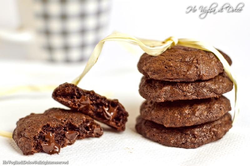 Cookies al doppio cioccolato, ricetta golosa   Ho Voglia di Dolce