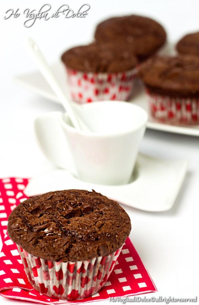 Muffin al cioccolato fondente, ricetta golosa | Ho Voglia di Dolce