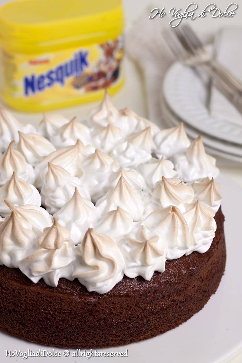 Ricetta torta nutella e meringa