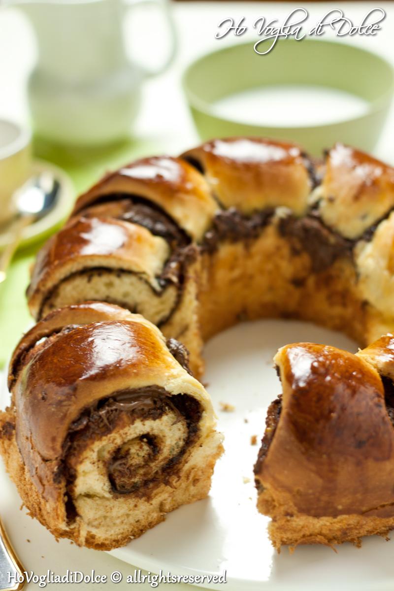 Ciambella brioche alla nutella, ricetta senza burro | Ho Voglia di Dolce