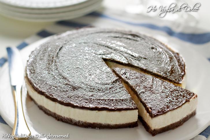Cheesecake al cocco e nutella, ricetta senza forno   Ho Voglia di Dolce
