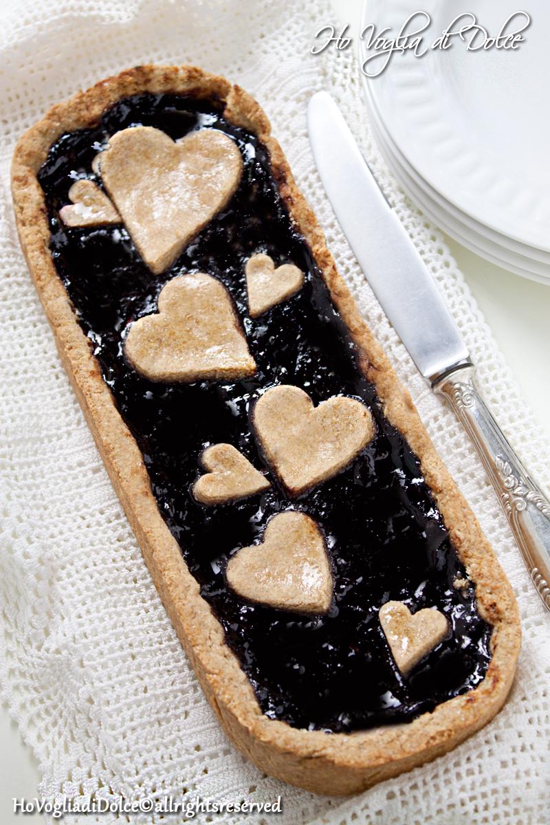 Crostata con farina di farro e marmellata di more, ricetta | Ho Voglia di Dolce