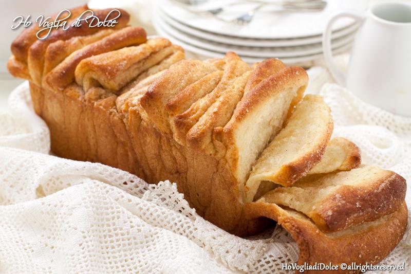 Pane dolce alla cannella (Cinnamon sugar pull-apart bread) | Ho Voglia di Dolce