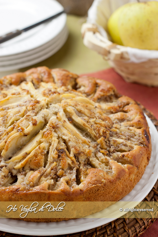 Torta di mele e noci, ricetta