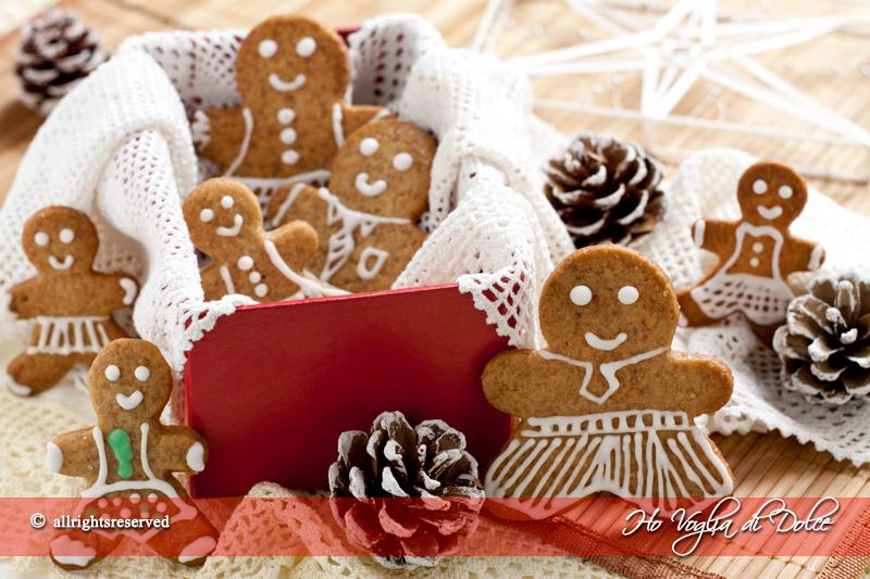 Biscotti di pan di zenzero - Gingerbread, ricetta Natale | Ho Voglia di Dolce