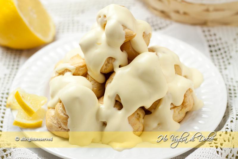 Profiteroles al limone, ricetta | Ho Voglia di Dolce