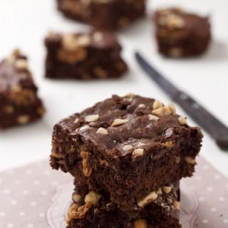 Brownies al cioccolato e caramello mou