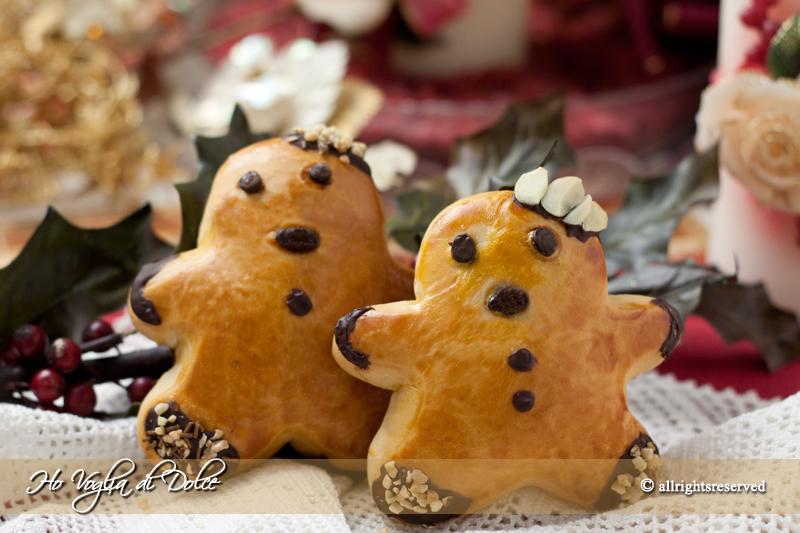 Omini di pan brioche Saint Nicolas, ricetta Natale| Ho Voglia di Dolce