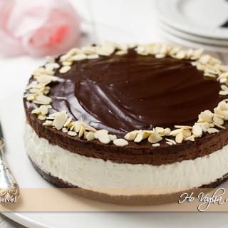 Cheesecake con mousse al cioccolato