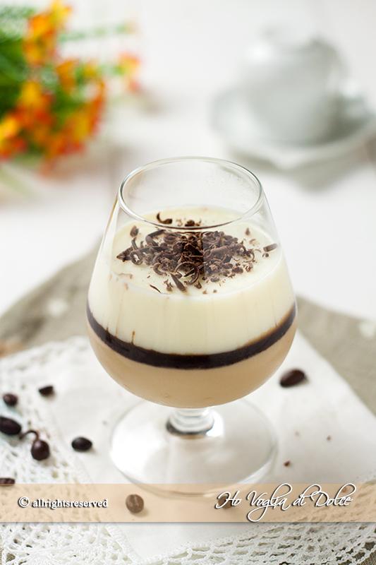 Panna cotta bigusto caffè e vaniglia