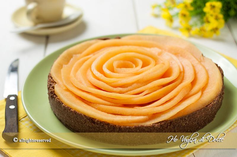 Torta al melone e crema senza forno | Ho Voglia di Dolce