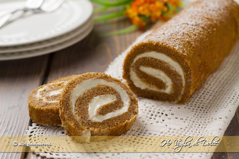 Rotolo dolce alla zucca- Pumpkin roll