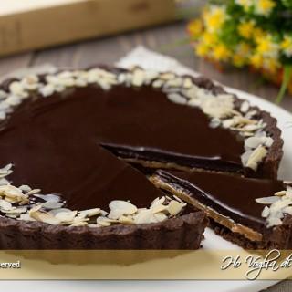Crostata al cioccolato e caramello tipo mou