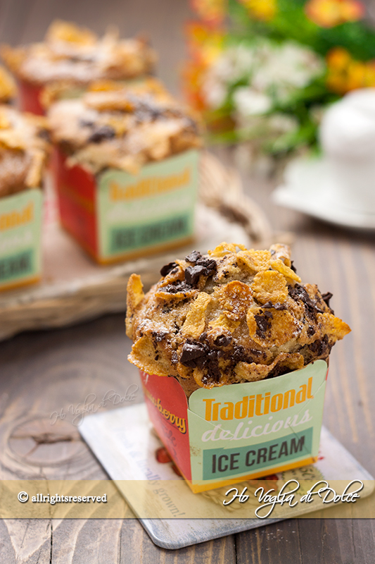 Muffin cornflakes e cioccolato