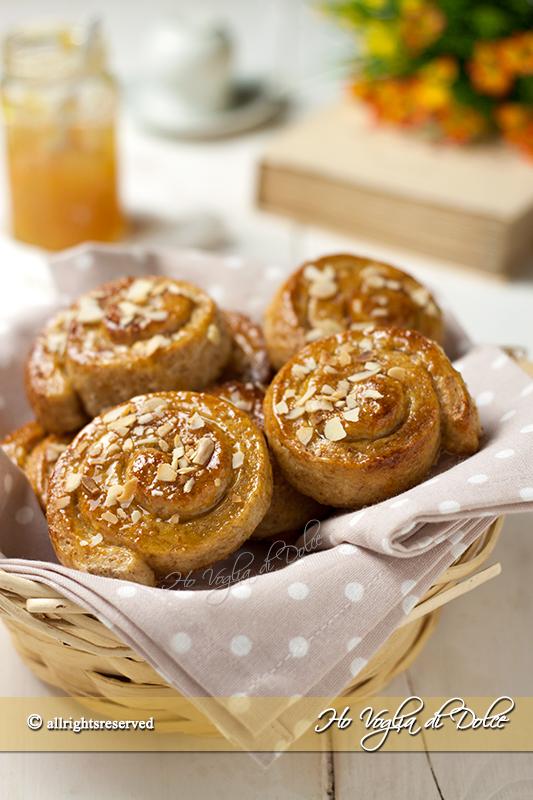 Girelle al miele integrali senza uova e burro