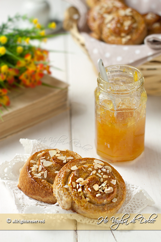 Girelle al miele senza uova e burro sofficissime