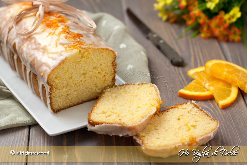 Plumcake all'arancia glassato