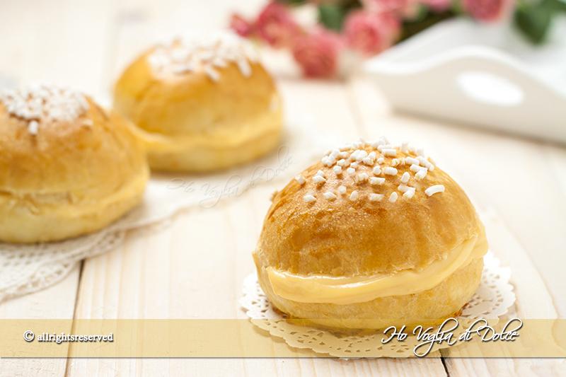 mini tarte tropézienne con crema ricetta