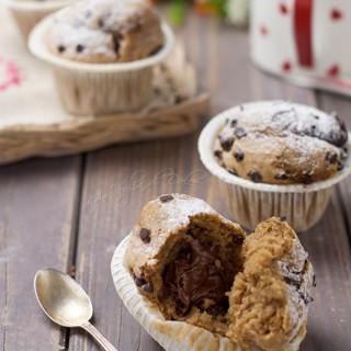 Muffin al caffè con cuore di Nutella