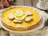 crostata con lemon curd, lemon tart