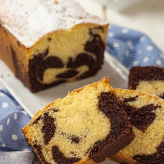Plumcake panna e cioccolato bicolore