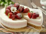 Cheesecake fragole e limone ricetta