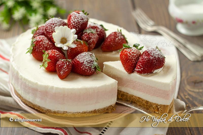 Cheesecake fragole e limone senza forno | Ho Voglia di Dolce