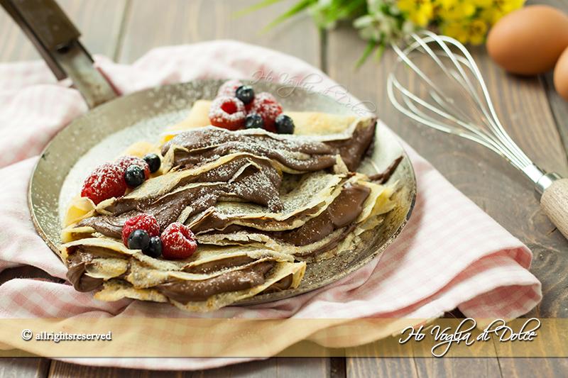 Crepes al cioccolato- Nutella-ricetta