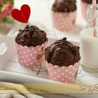 Muffin al cioccolato senza uova e burro
