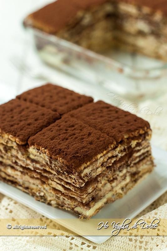 Mattonella di biscotti e crema con cioccolato ricetta senza cottura