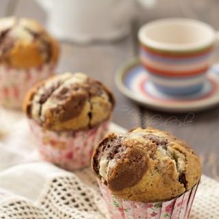 Muffin alla vaniglia e cacao