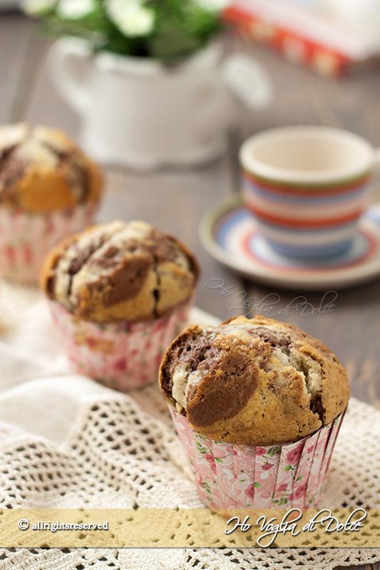 Muffin alla vaniglia e cacao bicolori ricetta
