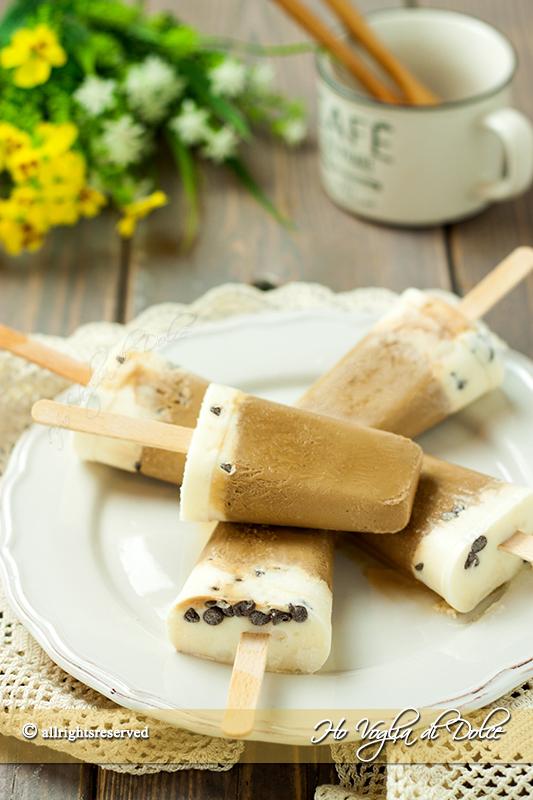 ghiaccioli cremosi al caffè facili e veloci ricetta